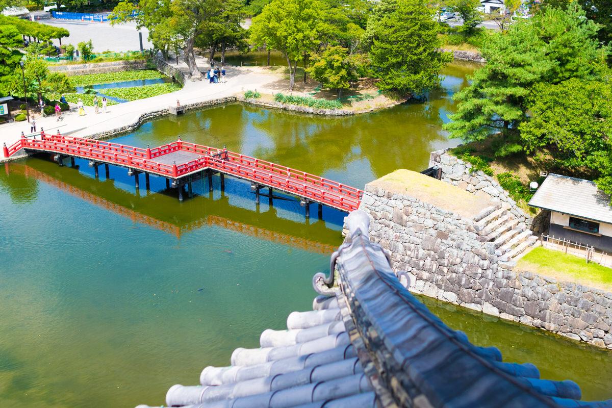 松本城天守からの眺め