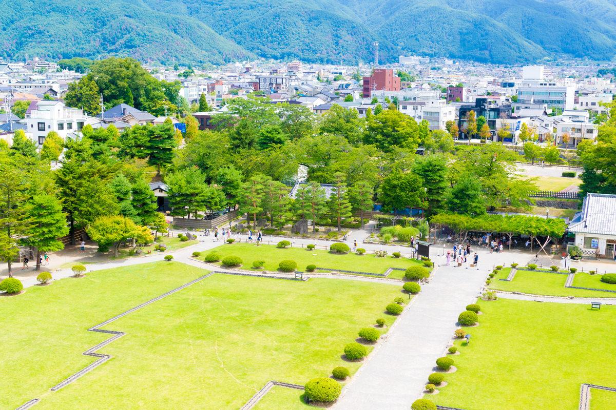 松本城の眺め