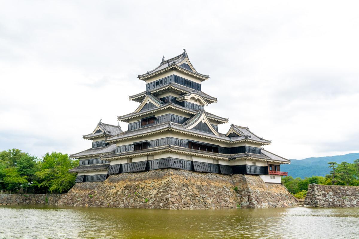松本城と堀