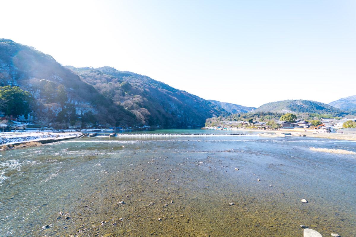 京都 渡月橋 桂川