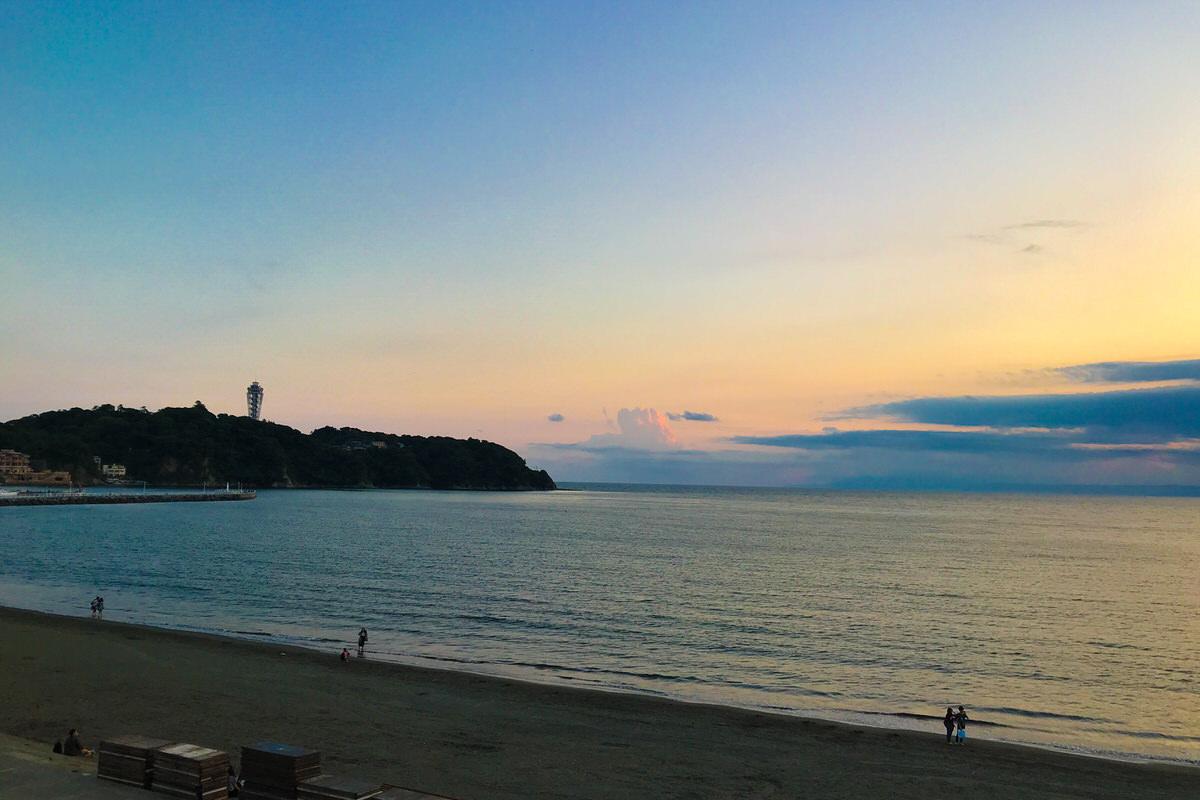 新江ノ島水族館からの夕日