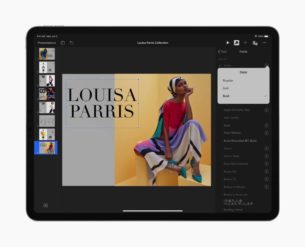 iPad OS フォント変更