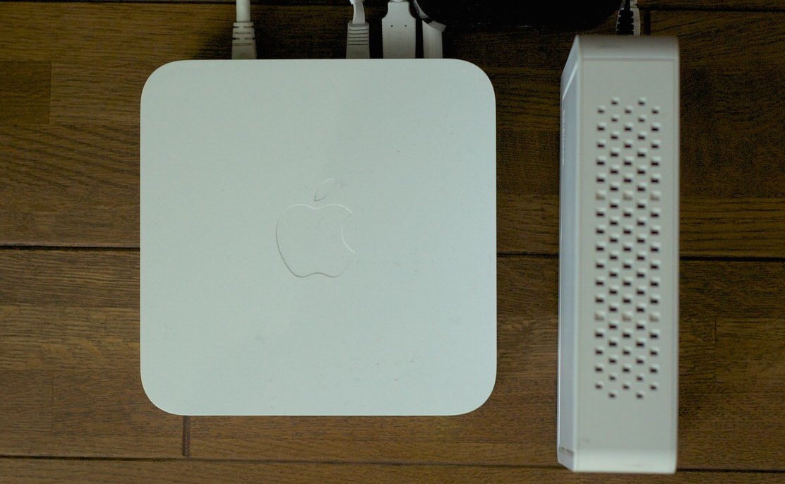 AirMac Extremeと外付けHDD